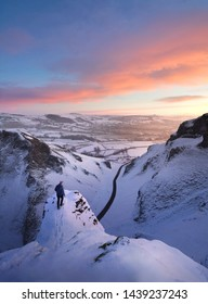 Snowy Winnats Pass, Peak District