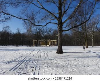 Snowy Winter in Park. Zdrowie Park in Lodz, Poland. - Shutterstock ID 1358491214