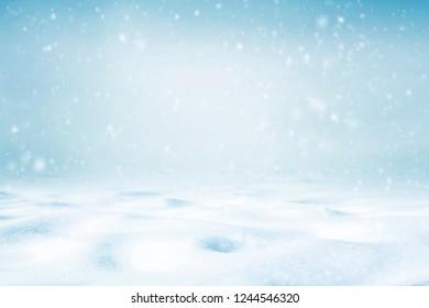 Snowy winter sky background