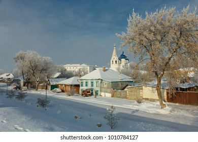 Snowy winter in Suzdal, Russia. Suzdal is part of the tourist route called the Golden Ring of Russia.