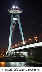 SNP (new) bridge in Bratislava. Slovakia