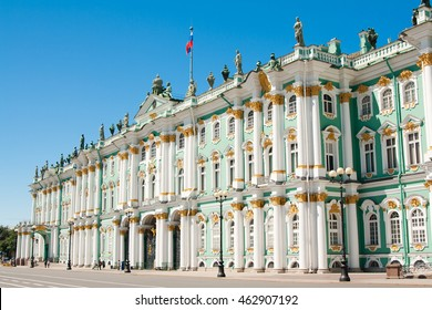 Snt. Petersburg, Russia, Russian scene: People walking on Palace square ner Zimny [Winter] Palace - Shutterstock ID 462907192