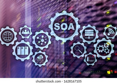 SOA. Business model and Information technology concept for Service Oriented Architecture under principle of service encapsulation.