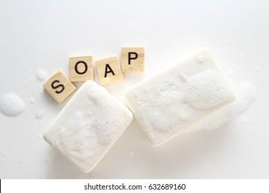 Seife / Seife ist ein Salz einer Fettsäure. Haushaltshäuser für Seifen wie Waschen, Baden und andere Arten der Haushaltsführung