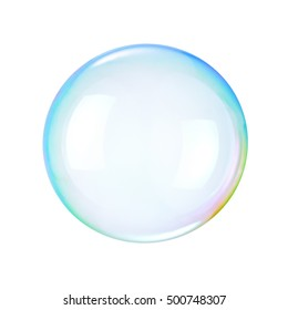 Soap bubble on a white background