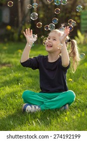 Soap bubbles in Children's Day