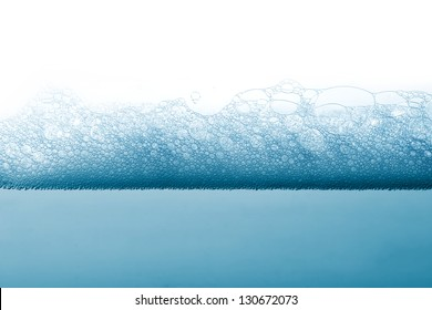 Soap foam and bubbles background