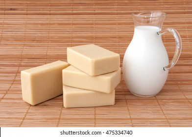soap with goat's milk. natural handmade soap