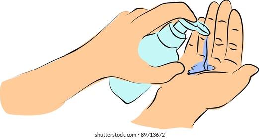 Soap in hands