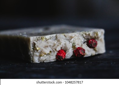 soap with herbs and berries
