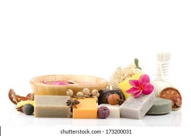 Soap made from rice, Starfruit, honey, black sesame seeds, moringa, Gotu kola (Centella asiatica (L.) Urban.) And carrots. for healthy, beautiful skin