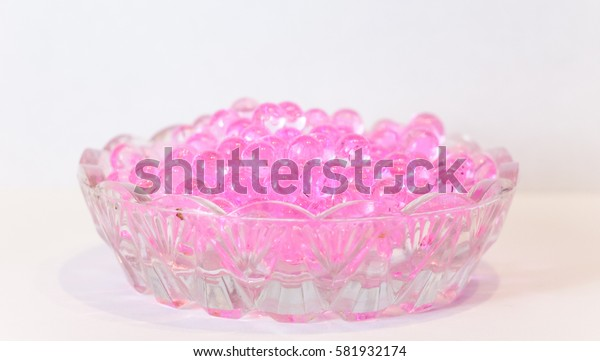 Soap pink fragrant beads