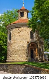 "The so-called ""Martin's Rotunda"" in the Vysehrad Park in Prague/Czech Republic"