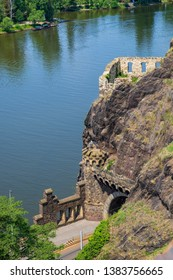 """The so-called """"Ruins of Libuse Bath"""" in the Vysehrad Park in Prague/Czech Republic"""
