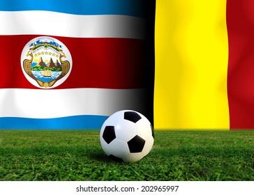 Soccer 2014 ( Football ) Costa Rica and Belgium