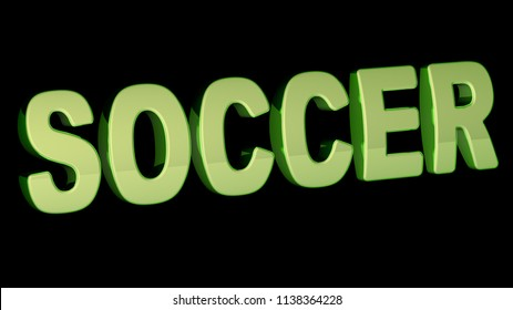 Soccer. 3D Illustration.