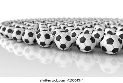 soccer ball. 3D illustration.