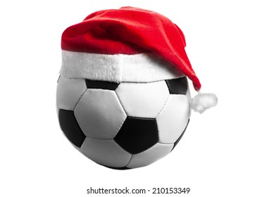 Soccer ball in Christmas style