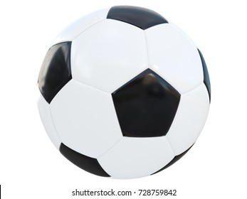 soccer ball classic black and white old