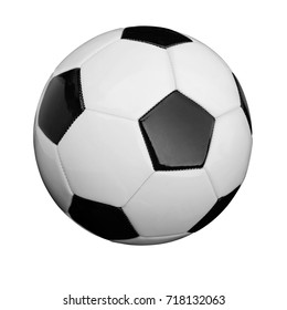 Soccer ball, Football isolated on white background. This has clipping path.