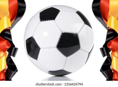 Soccer Ball - German Flag Banderole