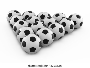 soccer ball group (isolated on white and clipping path)