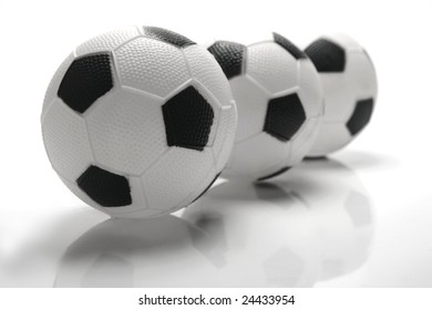 A soccer ball isolated against a white background