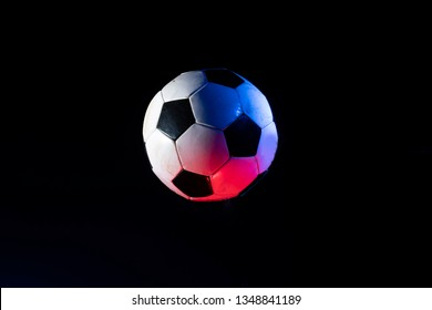 soccer ball isolated on the black
