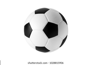 soccer ball isolated on white .