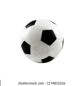 Soccer ball isolated on white, out space.