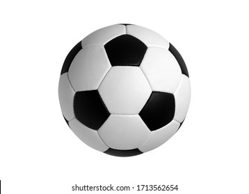 Soccer Ball Isolated on White Background. Classic soccerball, Football, Sport, Textured. High Quality.