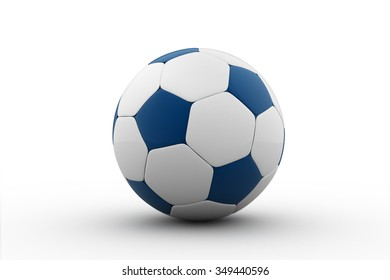 soccer ball isolated on white / Football / Blue soccer ball / football ball isolated