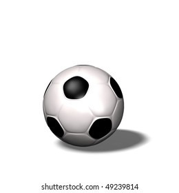 A soccer ball isolated on a white background.