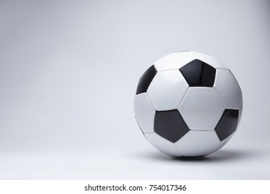 Soccer ball isolated studio shoot.