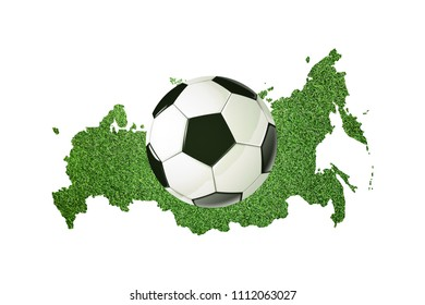 Soccer Ball, Map, football isolated, 3d render