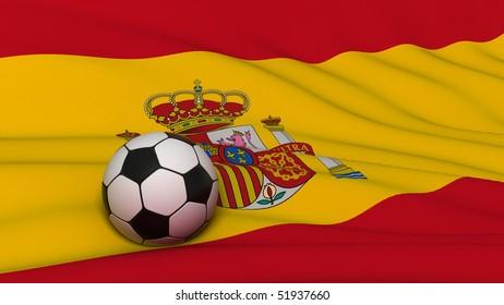 soccer ball on flag