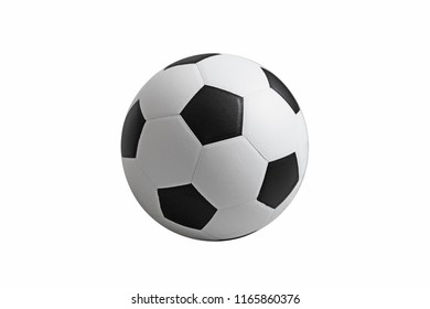 Soccer ball on isolated. with clipping path