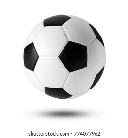soccer ball on isolated on white .