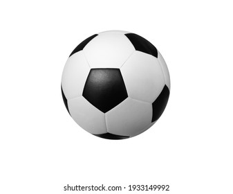 Soccer ball on a white background for a sports team