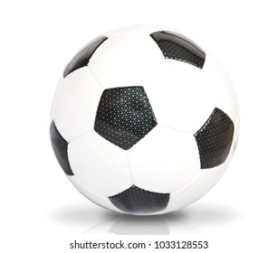 Soccer ball over white background.