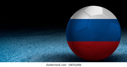 Soccer ball with Russia flag