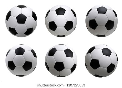 soccer ball set isolated on white background