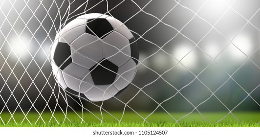 soccer ball soccer stadium 3d rendering background