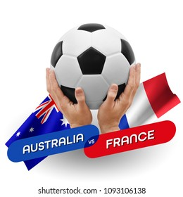 Soccer competition, national teams Australia vs France