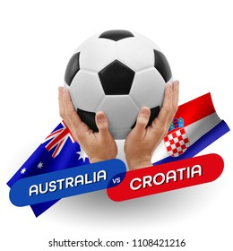 Soccer competition, national teams Australia vs Croatia