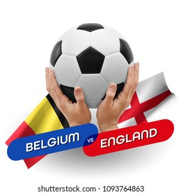 Soccer competition, national teams Belgium vs England
