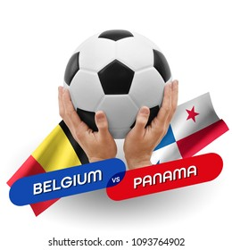 Soccer competition, national teams Belgium vs Panama