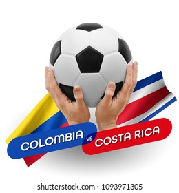 Soccer competition, national teams Colombia vs Costa Rica