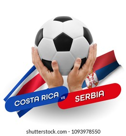 Soccer competition, national teams Costa Rica vs Serbia