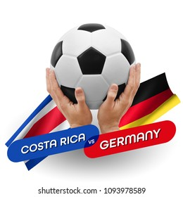 Soccer competition, national teams Costa Rica vs Germany